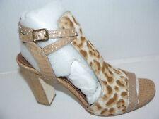 NEW Donald J Pliner Tinna (Sand Summer Leopard Print Calf Hair) Sandal 9.5 M