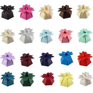 Flower Top Wedding Favour Boxes - Choose Colour - Choose QTY - SC16. 10, 50, 100