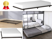 Cama Individual Twin Base Plataforma Elegante Dormitorio Confortable Calidad
