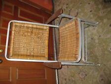 Vintage Wicker Folding Rocking Chair