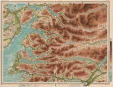 SCOTTISH HIGHLANDS. Invernessshire Fort William Sound of Sleat. LARGE 1912 map