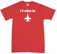 I'd Rather be Fighter Jet Silhouette #2 Mens Tee Shirt Pick Size Color Small-6XL