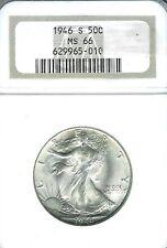 1946-S Walking Liberty Half Dollar : NGC MS66