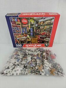 Springbok Good Nabor Store 500 Piece Jigsaw Puzzle Royal Flush Pinball Coca Cola