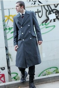 Vintage 90s German Army Grey Trenchcoat Greatcoat military trench overcoat coat