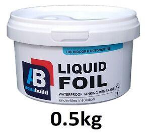 0.5kg Waterproof Tanking Membrane Aqua Build Liquid Foil Shower Wet Room System