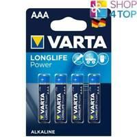 4 VARTA LONGLIFE POWER ALKALINE AAA LR03 BATTERIEN 1.5V MICRO AM4 E92 MN2400 NEU