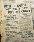 UNITED STATES PROHIBITION Beer Liquor 18th Amendment VOID Buyer ? 1930 Newspaper