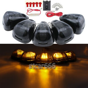 Smoke Lens Cab Marker Lights Amber LED Assembly for 1999-2016 Ford E/F-250 F-350