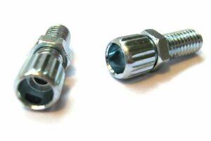 Bicycle Brake Barrel Adjusters - M6 x 16mm Steel NEW - Pair