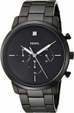 Fossil Men's Neutra FS5583 44mm Black Dial Stainless Steel Watch