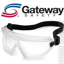 Gateway Wheelz Clear Lens Clear Frame Safety Goggles Glasses Lightweight Z87+