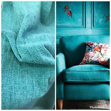 SALE! Designer Lightweight Chenille Fabric - Turquoise- Double Sided