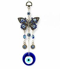 Blue Evil Eye with Butterfly Hanging Ornament for Protection