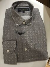 Brand New Gieves & Hawkes Light Grey Paisley Pattern Shirt Size Medium M