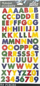 Sticko Primary Colors Block Alphabet Letter Stickers Planner Teacher Scrapbook