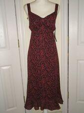 WOMENS KARIN STEVENS BLACK RED SUMMER SUN DRESS SHEER LINED 12 NWT LOVELY LADIES