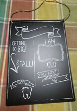 all about me chalkboard sign