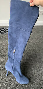 Sergio Rossi Suede Knee High Boots 40/ 9AU Never Worn