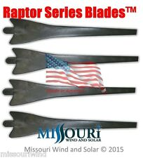 4 Raptor Generation 4 Gray Wind Turbine Generator Blades Made in the USA