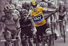 Chris Froome Signed 8X12 inches 2013 Tour De France Photo