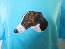 NEW GREYHOUND HEAD VIEW EMBROIDERED T-SHIRT ADD NAME FOR FREE