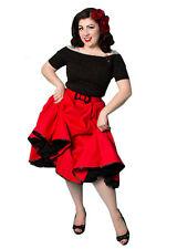 Rockabilly 50s Swing Falda, Jive, Vintage, Retro, 1950s, Bombshell, impresionante, Xs
