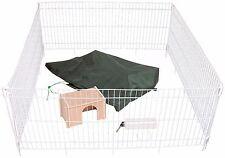 Weißes Kaninchengehege Freilaufgehege + Netz groß XL Kleintiergehege Hasengehege