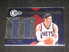 Brook Lopez Nets Certified Authentic Game Used Jersey Basketball Card #201/299