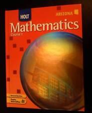 Holt Mathematics Cr 1 ARIZONA Edit 2007 USED 0554002426