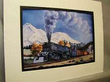 Southern Pacific At Mt Shasta Artist Illustrated Color Railroad Archives SS