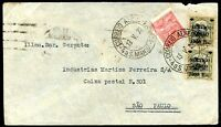BRAZIL RECIFE TO SAO PAULO Air Mail Cover 1932, NICE!