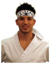 Karate Kid Head Band Blue & White Lotus Flower Headband Mr Miyagi Daniel Larusso