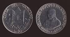 VATICANO - 50 LIRE 1990 GIOVANNI PAOLO II FDC/UNC FIOR DI CONIO
