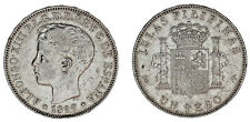 1 SILVER PESO / PLATA. ALFONSO XIII. PHILIPPINES - FILIPINAS 1897. VF+/MBC+.