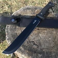 "15"" HUNTING SURVIVAL Army Military FULL TANG MACHETE Fixed Blade Knife SWORD"