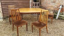 4 x Retro  G Plan teak dining chairs teak dining table vintage mid century