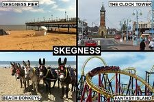 SOUVENIR FRIDGE MAGNET of SKEGNESS ENGLAND