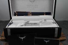 AUTHENTIC! Tibaldi by Montegrappa New York Blue & Rose Gold Fountain Pen
