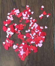Small Bag Of Red & Pink Hearts Cut Outs Table Top Paper Confetti
