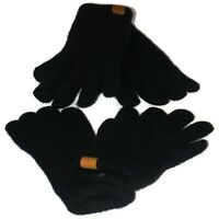 Women's Winter Warm Touchscreen Gloves Cable Knit Wool Fleece Lined Lot of 2