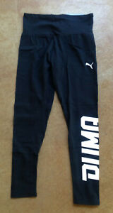 New Puma Womens Swagger Cropped drycell Leggings, Black, XXS