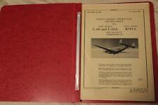 ORIGINAL 1945 AAF C-60,C-60A LODESTAR PILOTS FLIGHT MANUAL AIRCRAFT HANDBOOK