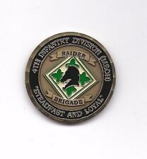 CHALLENGE COIN 4TH INFANTRY DIVISION RAIDER BRIGADE SADDAM CAPTURE COIN