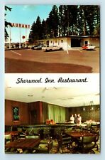 Portland, OR - SHERWOOD INN MULTIVIEW INTERIOR 76 GAS STATION & OLD CARS PC K2