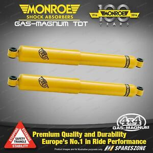 Pair Rear Monroe GAS MAGNUM TDT Shock Absorbers for NISSAN PATROL MQ MK 4WD