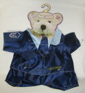 Cuddly Cousins Blue Policeman Bear Outfit 11 Inches NWT