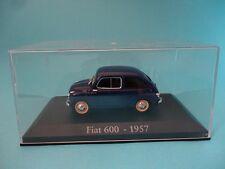 FIAT 600 SEAT - AZUL BLUE - TAPA DE METACRILATO - 1957 - 1/43 NUEVO NEW IXO RBA