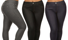 NEW WOMEN'S JEGGINGS (3-PACK): GREY/NVY/BLK SZ S/M WITH FREE LEGGINGS (2-PACK)
