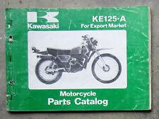 KAWASAKI KE125 1979 Workshop Parts List Manual for KE 125 Owners Service Repair